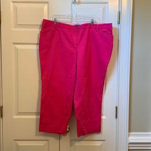 Landsend pink cropped pants. Size 20W